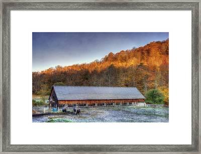 Kedron Valley Farm - Woodstock Vt Framed Print
