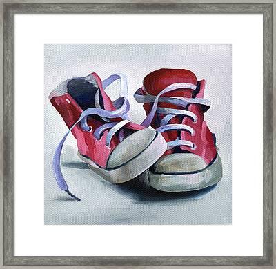 Keds Framed Print by Natasha Denger