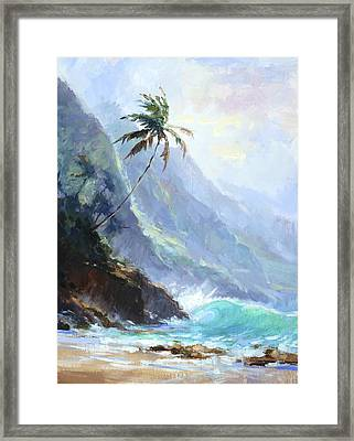 Ke'e Beach Framed Print