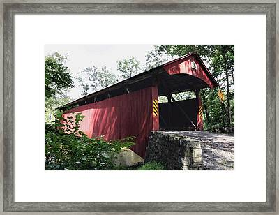 Keefer Station Covered Bridge Framed Print by Gene Walls