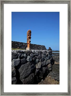 Ke'eku Heiau, Kahaluu Bay, Kailua-kona Framed Print by Douglas Peebles