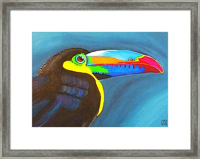 Keel Billed Toucan  Framed Print by Una  Miller