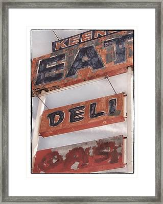 Keene Cafe Framed Print