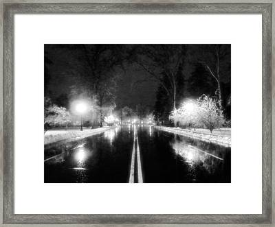 Keeneland Entrance In Black And White Framed Print by Christopher Hignite
