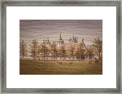 Keeneland Farm Photoart Framed Print by Randall Branham