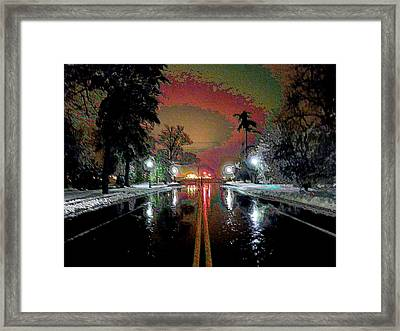 Keeneland In Winter Framed Print by Christopher Hignite