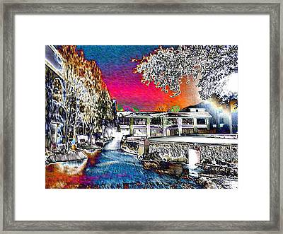 Keeneland In Winter Color Framed Print by Christopher Hignite