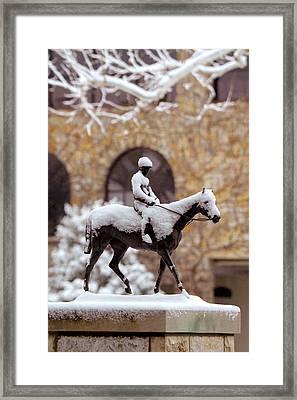 Keeneland In Winter Framed Print by Sid Webb