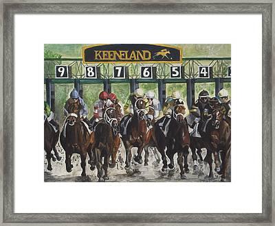 Keeneland Framed Print