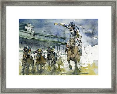 Keeneland  Framed Print by Michael  Pattison