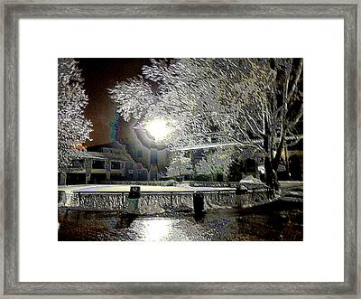 Keeneland Pre-race Area 1 Framed Print by Christopher Hignite