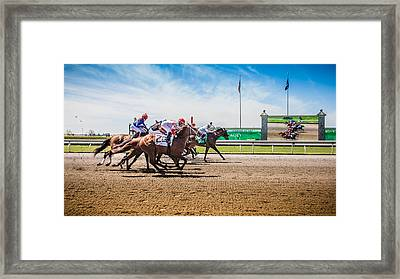 Keeneland Racing Framed Print by Keith Allen