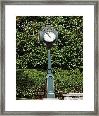 Keeneland Rolex Framed Print by Roger Potts
