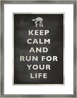 Keep Calm At-at Framed Print