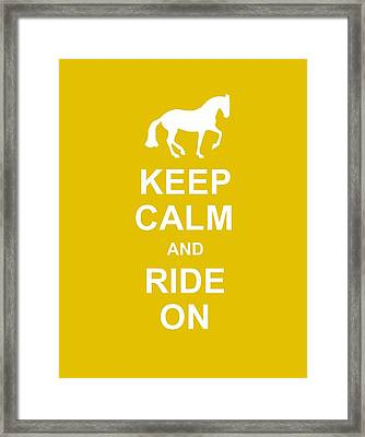 Keep Calm At Grand Prix Framed Print by JAMART Photography