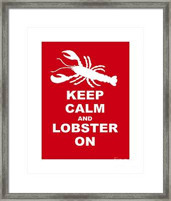 Keep Clam And Lobster On Framed Print by Julie Knapp