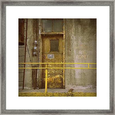 Framed Print featuring the photograph Keep Door Closed by Joseph Skompski