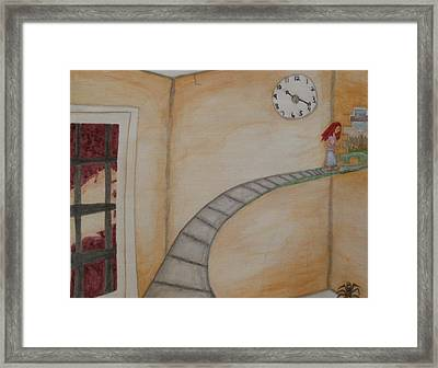 Framed Print featuring the painting Keep Going by Thomasina Durkay
