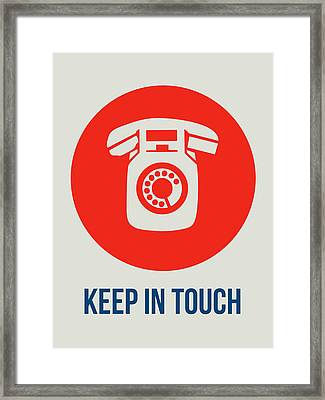 Keep In Touch 2 Framed Print by Naxart Studio
