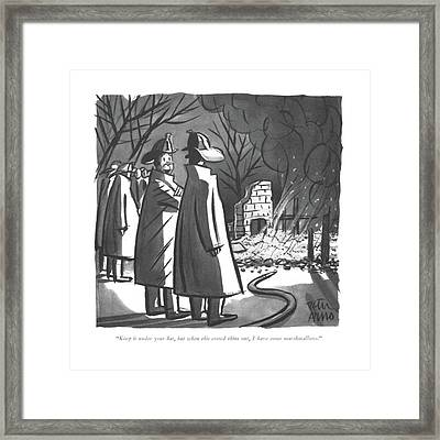 Keep It Under Your Hat Framed Print by Peter Arno