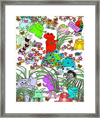 Keep Looking-who's Hiding? Framed Print by Chris Morningforest