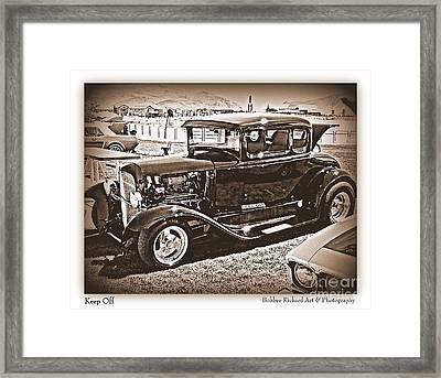 Keep Off My Car Framed Print by Bobbee Rickard