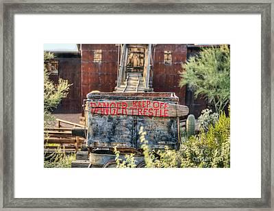 Keep Off Trestle Framed Print by Eddie Yerkish