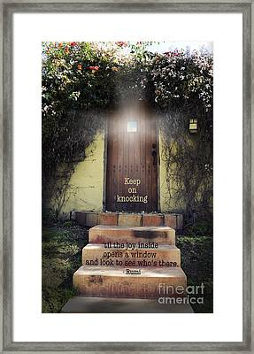 Keep On Knocking Framed Print by Stella Levi