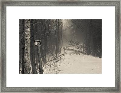 Keep Out Framed Print by Bill Pevlor