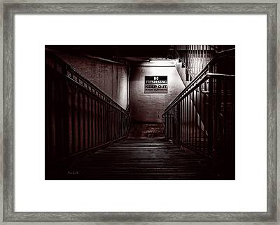 Keep Out Danger Of Drowning Framed Print by Bob Orsillo