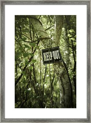 Keep Out Island Framed Print by Trish Mistric