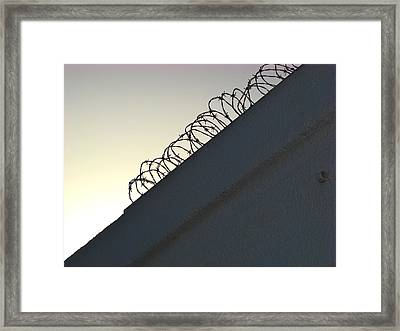 Keep Out Framed Print