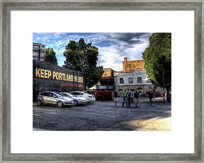 Keep Portland Weird Framed Print