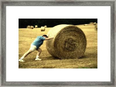 Keep Pushing Framed Print by Karol Livote