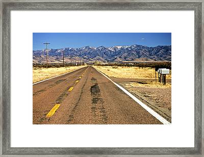 Keep Right On Framed Print