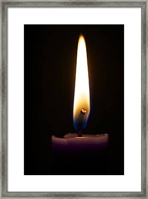 Keep The Flame Burning Bright Framed Print