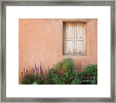 Keep The Summer Heat Out Framed Print