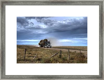 Keep Those Hay Bales Rolling Framed Print