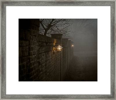 Keep Your Back To The Wall Framed Print by Odd Jeppesen
