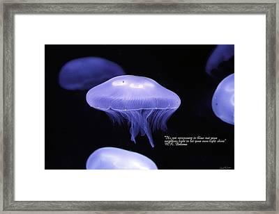Keep Your Light Burning Framed Print by David Simons