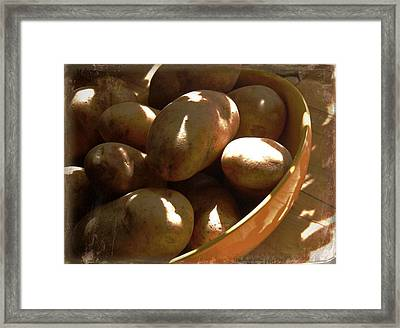 Keep Your Potatoes Framed Print by Tg Devore