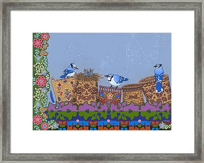 Framed Print featuring the painting Keeper Of Songs by Chholing Taha