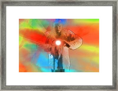 Keeper Of The Light Pop Art Framed Print by Dan Sproul