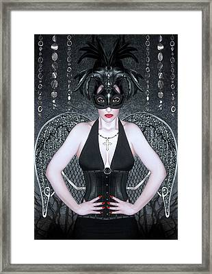 Keeper Of The Night - Self Portrait Framed Print by Jaeda DeWalt