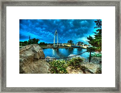 Keeper Of The Plains Bridge Framed Print by  Caleb McGinn