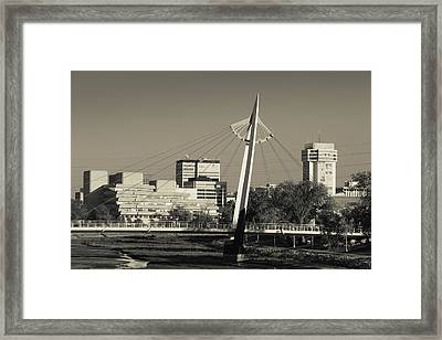Keeper Of The Plains Footbridge Framed Print by Panoramic Images