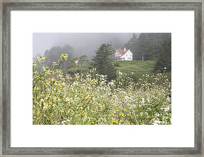 Framed Print featuring the photograph Keepers House by Laddie Halupa