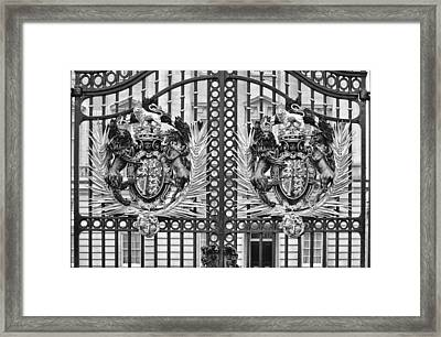 Keepers Of The Gate Bw Framed Print by Christi Kraft