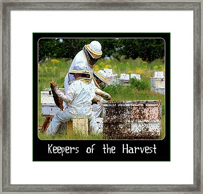 Keepers Of The Harvest Framed Print