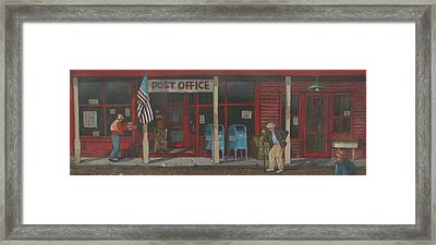 Framed Print featuring the painting Keeping In Touch by Tony Caviston